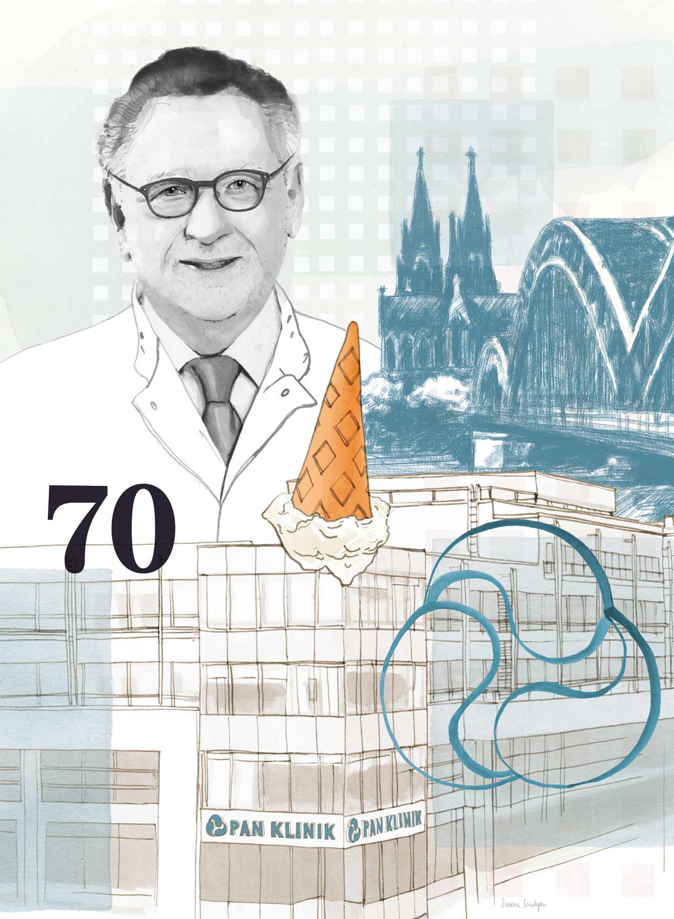Agentur Rincon - Panklinik - Dr. Palm - Köln - Illustration